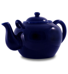 Cobalt Porcelain Teapot With Infuser