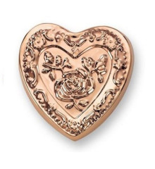 Copper Heart Rose Mold