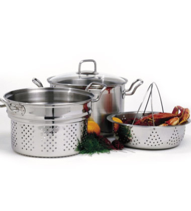 Stainless Steel Steamer-Cooker Set
