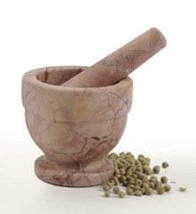 Red Marble Mortar and Pestle