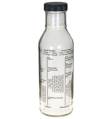Salad Dressing Bottle with Recipes