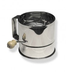 8-Cup Hand Crank Flour Sifter