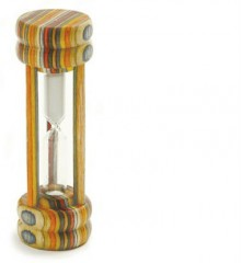 rainbow wood egg timer