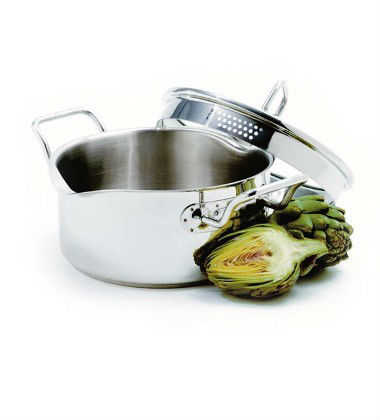 Stainless Steel Pot with Straining Lid