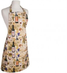 Apron with Wine Labels Theme