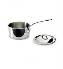 Mauviel Stainless Steel Saucepan with Lid