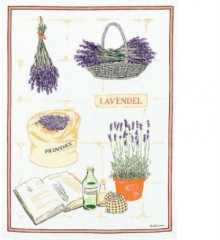 Lavender Theme Tea Towel