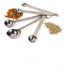 Five-Piece Stainless Steel Measuring Spoon Set