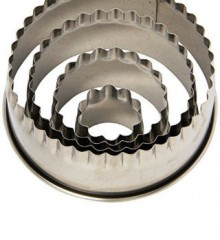 Fluted Round Biscuit Cutter Set