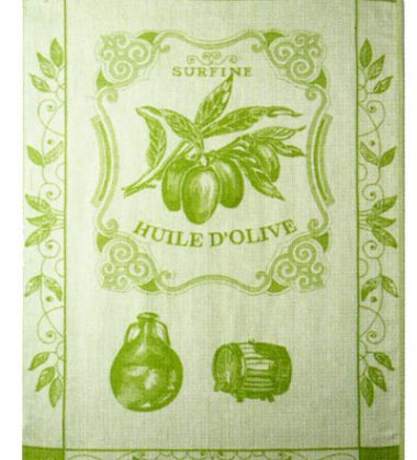Coucke Olive Oil Theme Tea Towel