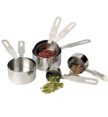 RSVP Stainless Steel Measuring Cup Set