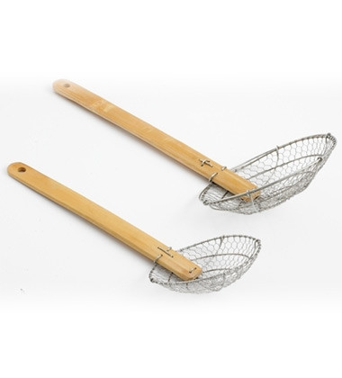 Wire Strainer with Bamboo Handle