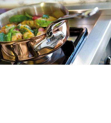 Mauviel Copper Stainless Steel Saute Pan