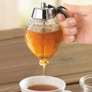 Glass Syrup Dispenser with Holder