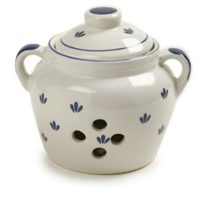 Decorative Ceramic Garlic Storage Jar